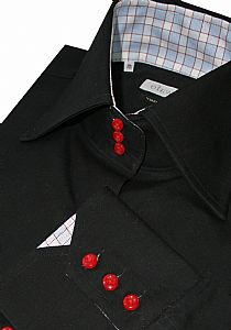 3 button horror collar for giraffes, mens dress shirts