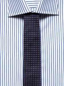 striped shirt checked tie mix patterns
