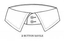 2 button collar for long necks, mens dress shirts