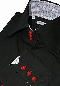 3 button horror collar for giraffes, mens dress shirts