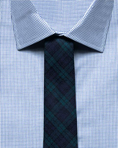 checked tie on checked shirts