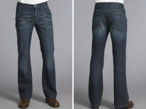 boot cut jeans that gives more width and proportion to tall men